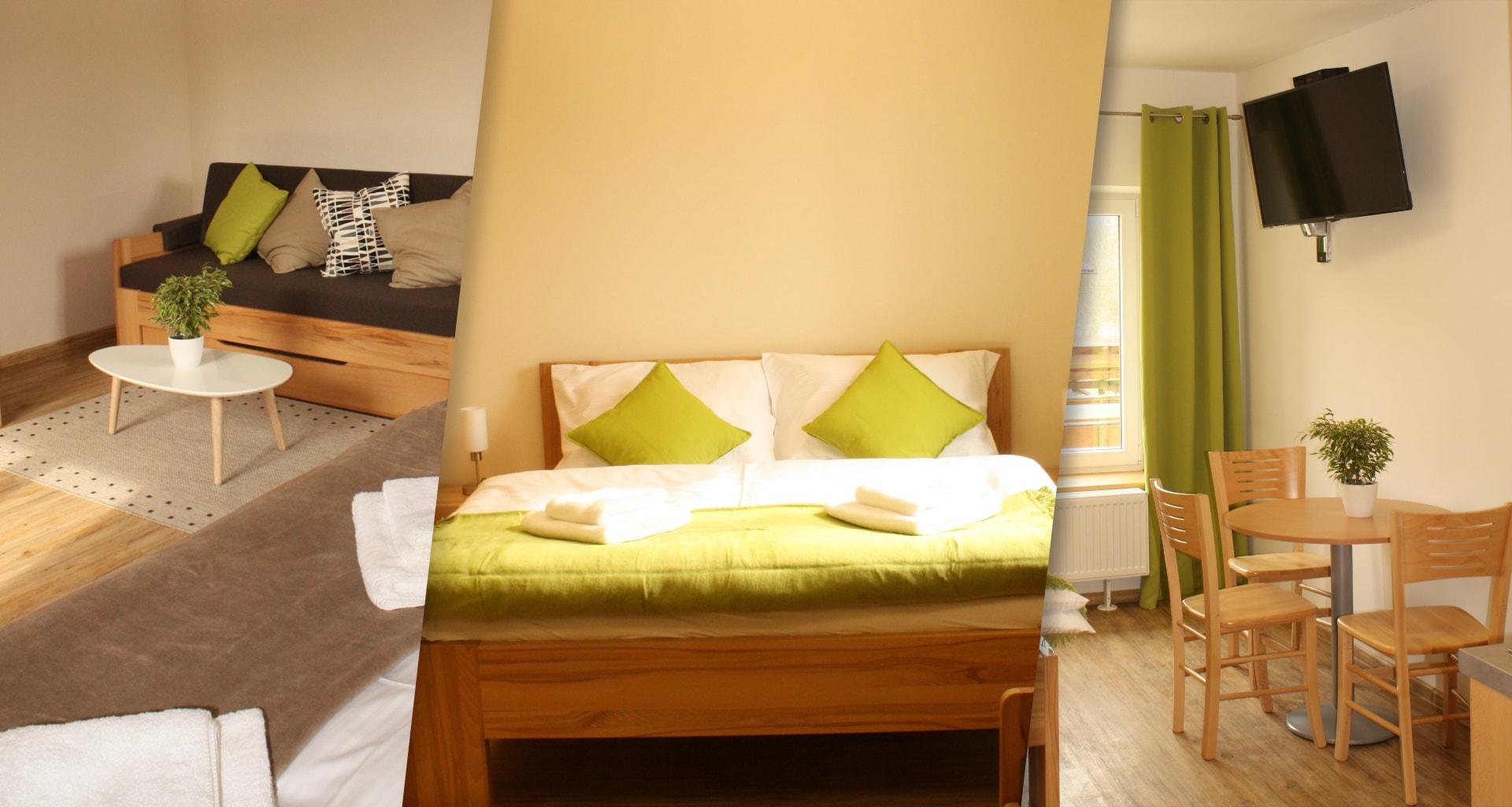 Nové a čisté ubytování