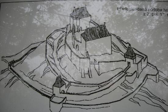 Hradisko – zřícenina hradu Rožnov